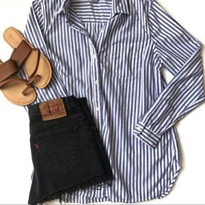 Old Navy NWOT Striped Classic Shirt Size Large